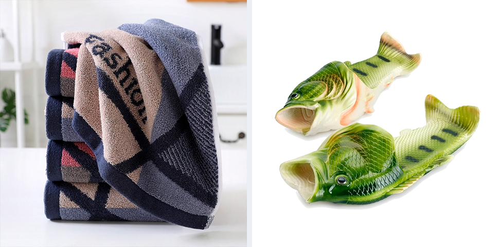 Подарки на новоселье для не очень любимых друзей, изысканные полотенца и тапки-рыбы с Алиэкспресса
