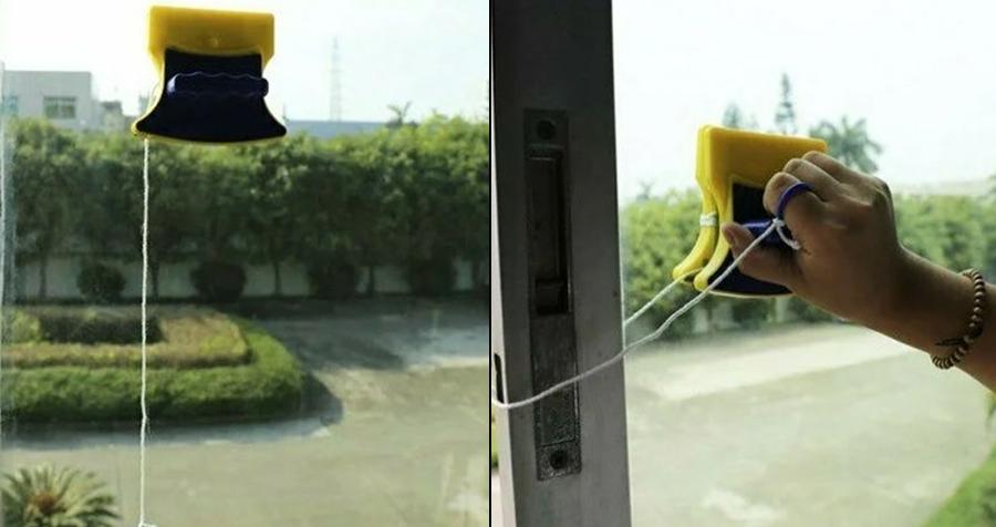 Чем помыть окна: магнитная щетка для мойки окон с Вайлдбериза