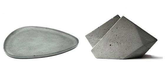 Необычная посуда из бетона