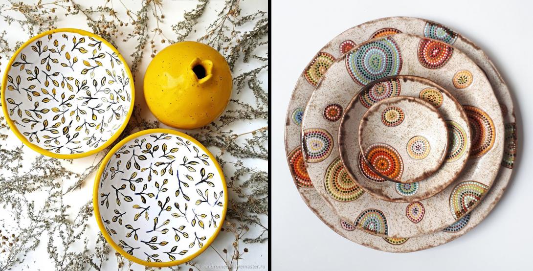 Набор тарелок «Лимончик» и набор без названия