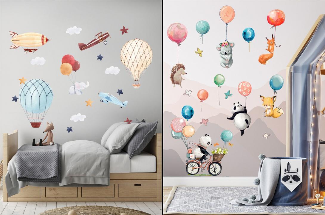 Наклейки с сюжетами для детской комнаты