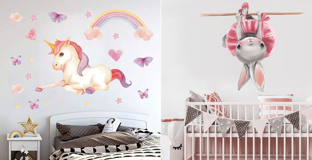 Наклейки с сюжетами для детской спальни