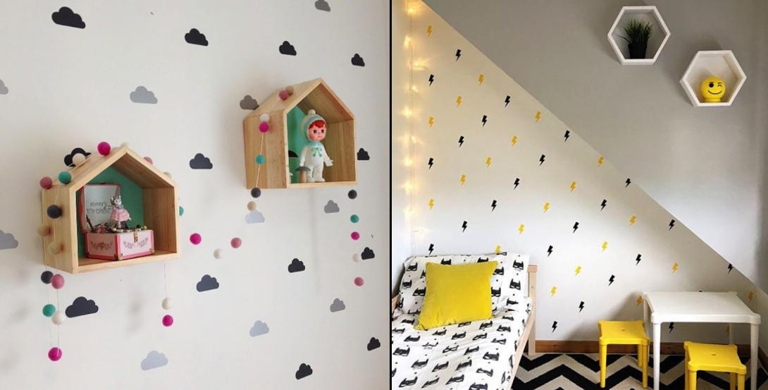 Интерьерные наклейки для детской спальни