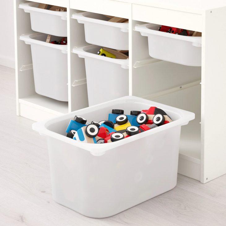 Как приучить детей к порядку: стеллаж для хранения Труфаст