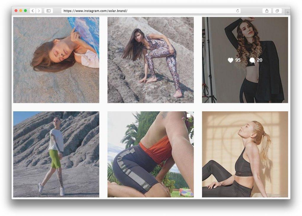 Бренд спортивной одежды для фитнеса и йоги Solar