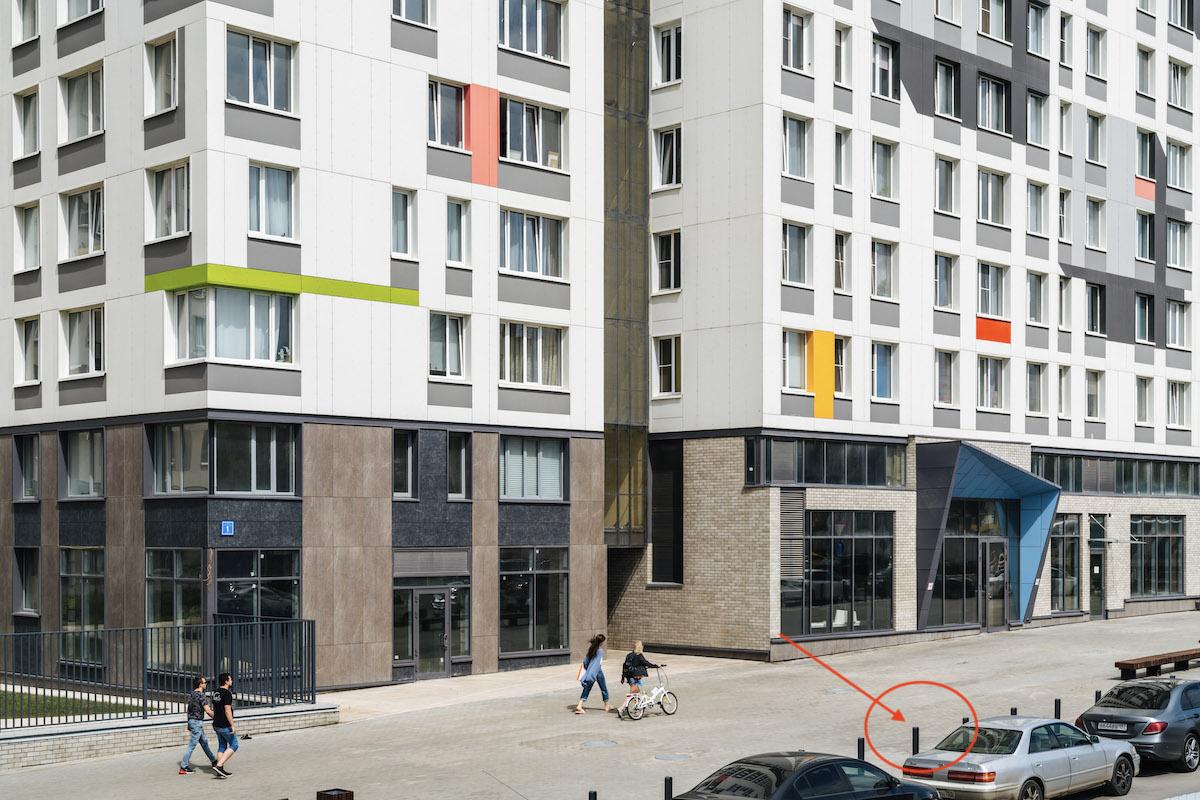 Антипарковочные столбики в жилом комплексе «Спутник»