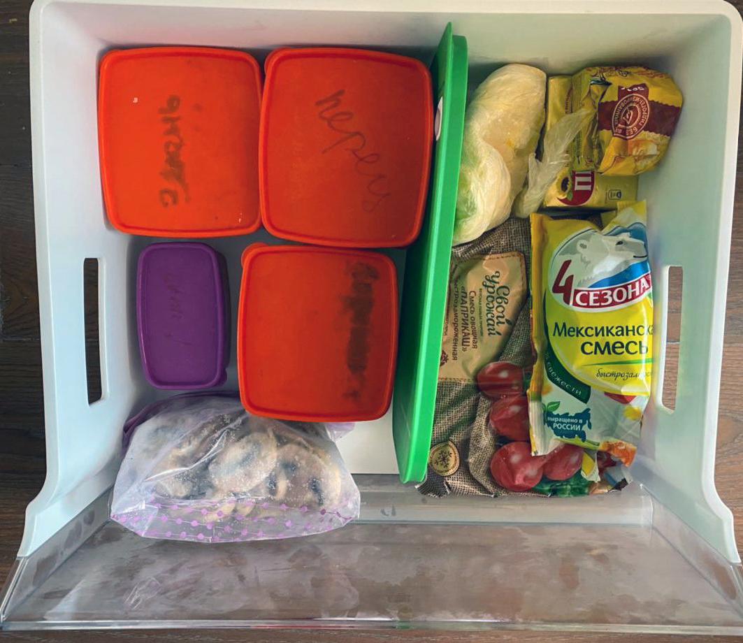 Порядок во всех ящиках морозильника