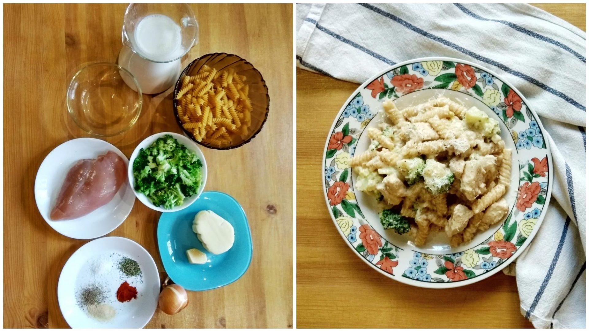 Простой и быстрый рецепт пасты с курицей и брокколи