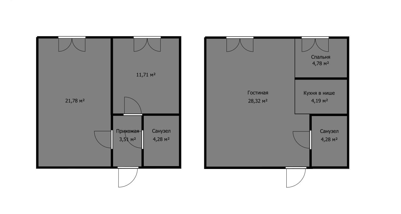 какую планировку выбрать, если на чертеже видна просторная кухня