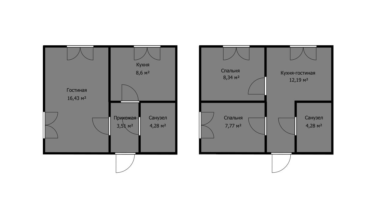 какую планировку выбрать, если окон больше, чем комнат